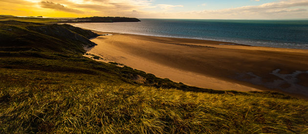 Swansea​​​ is located in its own region of Wales, United Kingdom and is set along a wide, curving bay.